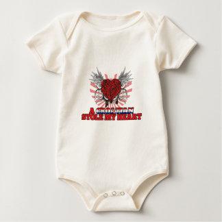 A Croatian Stole my Heart Baby Bodysuits