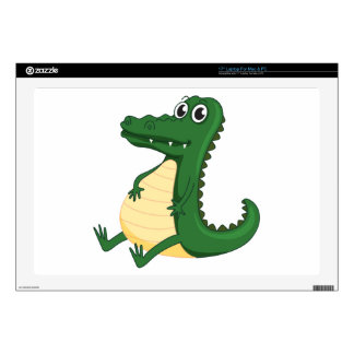 """a crocodile decal for 17"""" laptop"""