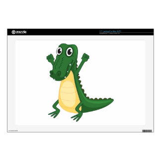 a crocodile decal for laptop