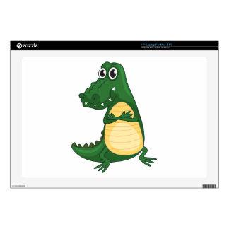 "a crocodile 17"" laptop decal"
