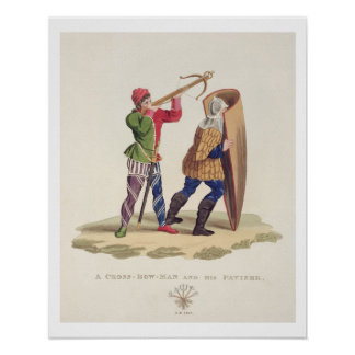 A Cross-bowman and his Paviser 1433 from Ancien Print