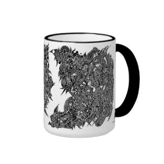 A Cross-section of A Whimsical Thought II Ringer Coffee Mug