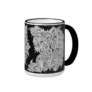 'A Cross-section of a Whimsical thought II' (NEG) Ringer Coffee Mug