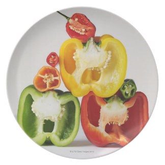 A cross-section of peppers plate
