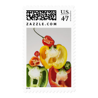 A cross-section of peppers stamp