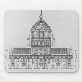 A cross-section of St. Peter's, Rome Mouse Pad