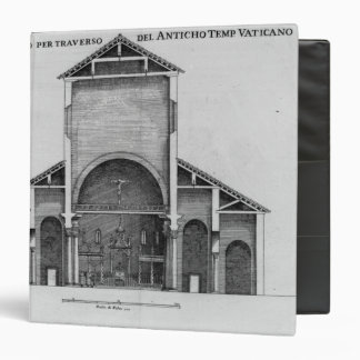 A Cross-Section of the old Vatican church 3 Ring Binder
