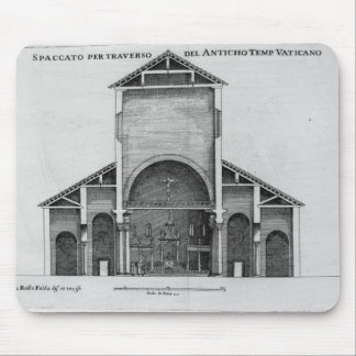 A Cross-Section of the old Vatican church Mouse Pad