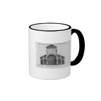 A Cross-Section of the old Vatican church Ringer Coffee Mug