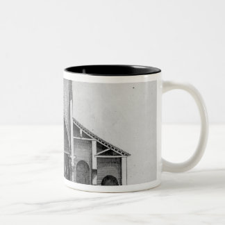 A Cross-Section of the old Vatican church Two-Tone Coffee Mug
