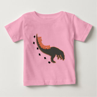 A Crouched Allosaurus Dinosaur in Green Baby T-Shirt