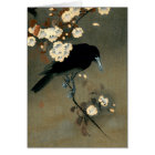 A Crow and Blossom by Ohara Koson Vintage Card