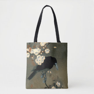 A Crow and Blossom by Ohara Koson Vintage Tote Bag