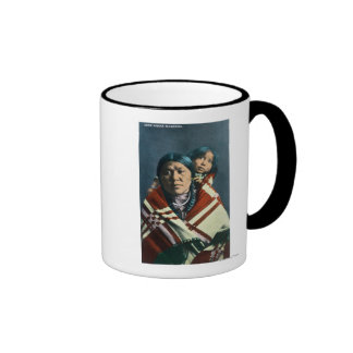 A Crow Indian Madonna and Child Coffee Mugs