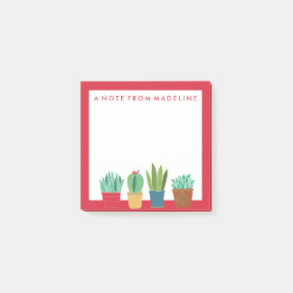 A Crowd of Cactus Post-it Notes