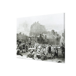 A Crowd Queues to Sign the National Covenant Gallery Wrap Canvas