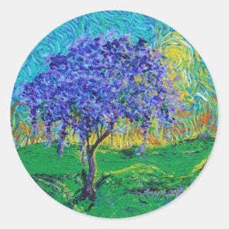 A Crown Of Purple Classic Round Sticker