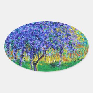 A Crown Of Purple Oval Sticker
