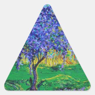 A Crown Of Purple Triangle Sticker