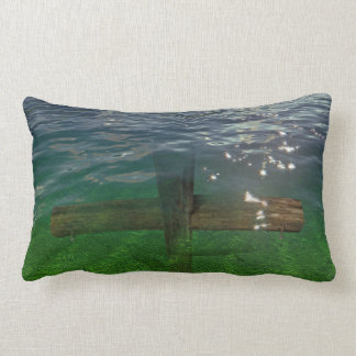 A Crucifix Immersed In Water Lumbar Pillow