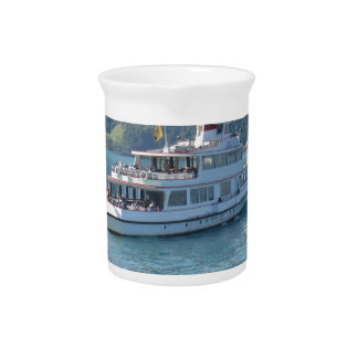 A cruise boat on a lake in Switzerland Pitchers