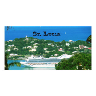 A Cruise Ship docked at St. Lucia Card