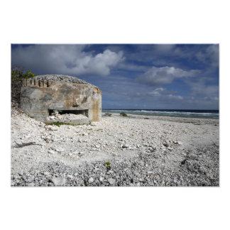 A crumbling bunker photo print