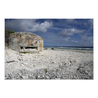 A crumbling bunker photographic print