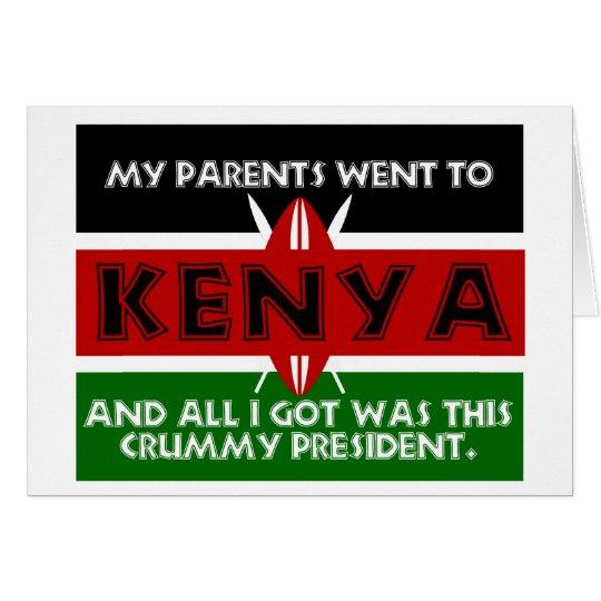A Crummy Souvenir of Kenya Card