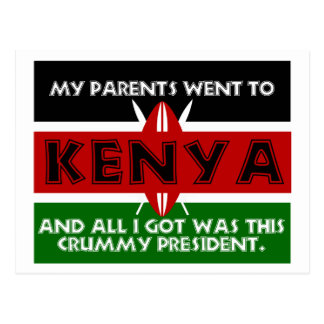 A Crummy Souvenir of Kenya Postcard