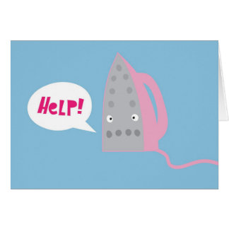A cry for help card