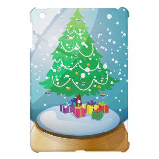 A crystal ball with a Christmas tree iPad Mini Case