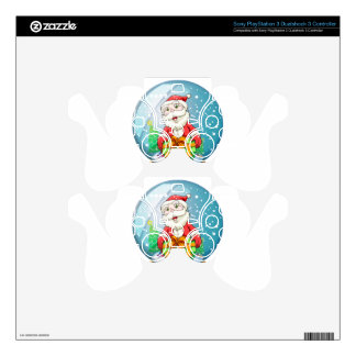 A crystal ball with Santa Claus inside Skin For PS3 Controller