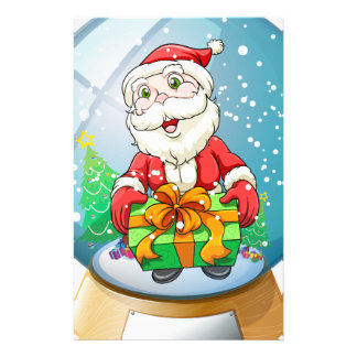 A crystal ball with Santa Claus inside Stationery