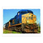 A CSX Train Post Card