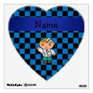 A cuadros azul personalizado del doctor conocido