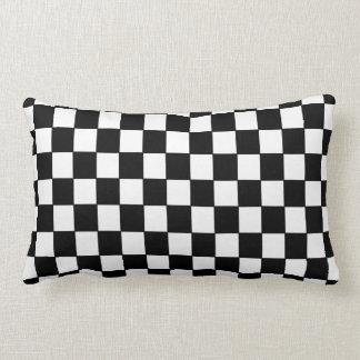 A cuadros blanco negro - almohada