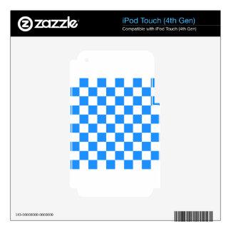 A cuadros - blanco y azul iPod touch 4G skin