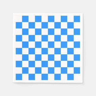 A cuadros - blanco y azul servilleta de papel