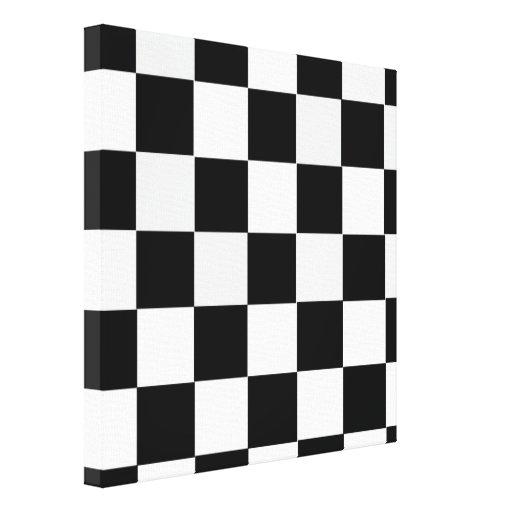 A cuadros blanco y negro impresiones en lienzo estiradas
