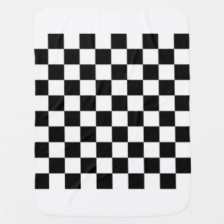 A cuadros - blanco y negro mantitas para bebé
