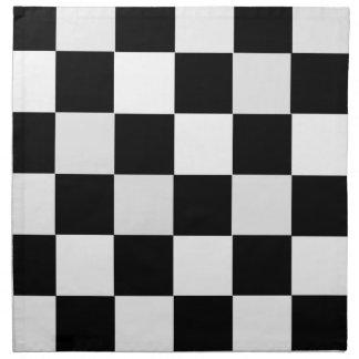 A cuadros blanco y negro servilleta de papel