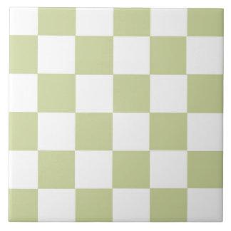 A cuadros palidezca - el verde azulejo cuadrado grande