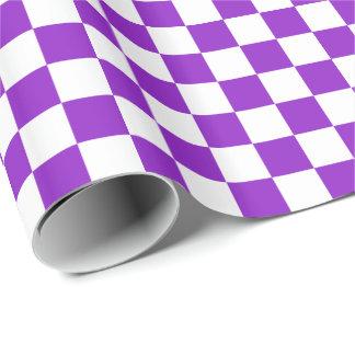 A cuadros púrpura/blanco