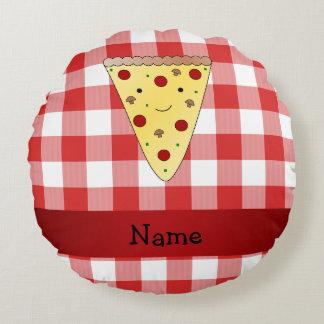 A cuadros rojo personalizado de la pizza linda