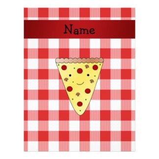 A cuadros rojo personalizado de la pizza linda membretes personalizados