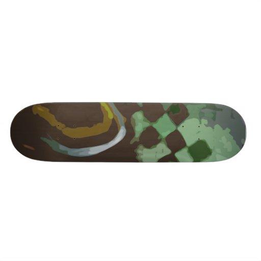 A cuadros tabla de patinar