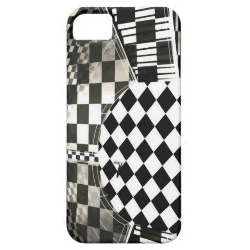 A cuadros todo alrededor del caso del iPhone 5 iPhone 5 Case-Mate Protector