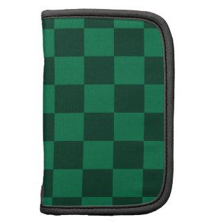 A cuadros - verde y verde oscuro