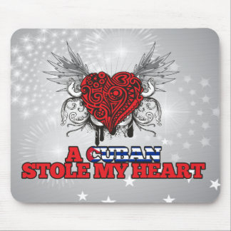 A Cuban Stole my Heart Mouse Pads